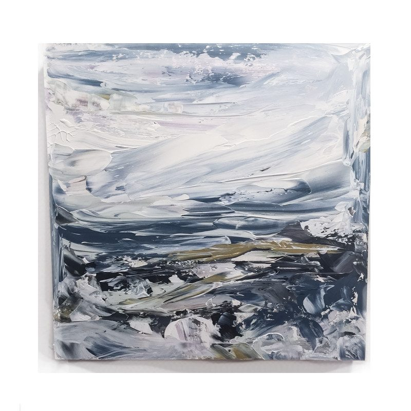 original abstract painting called cause it comes in waves by artist BRITTANY CLIFFORD