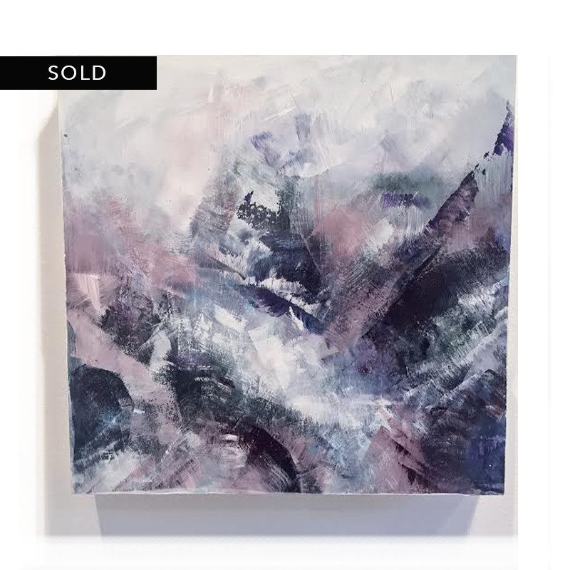 original abstract painting called violent beauty by artist BRITTANY CLIFFORD