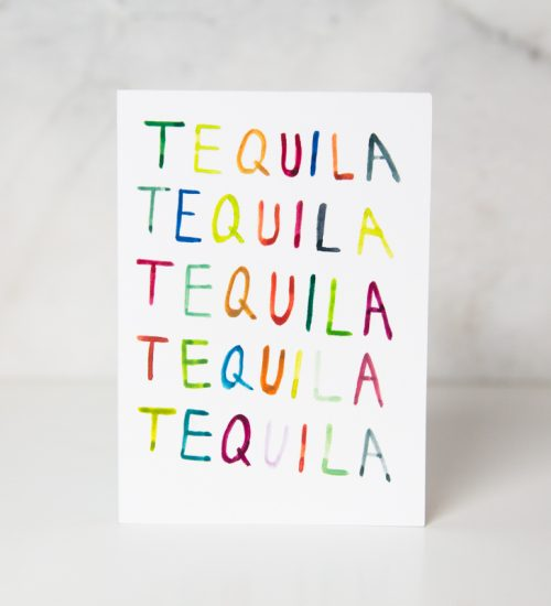 Tequila greeting card from wunderkid artist Ida Patton