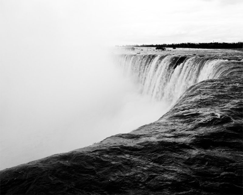 wunderkid nicole raquinio photograph of niagara falls in black and white called niagara