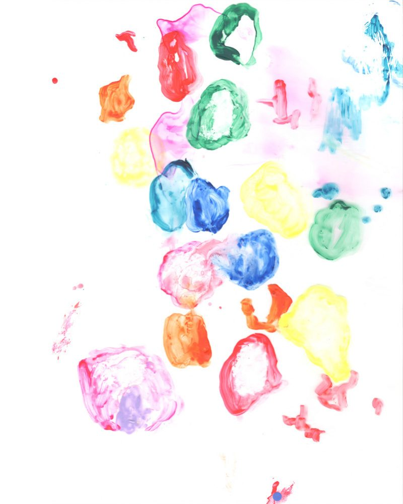 wunderkid stacey davidson abstract painting of colorful bubbles called palette