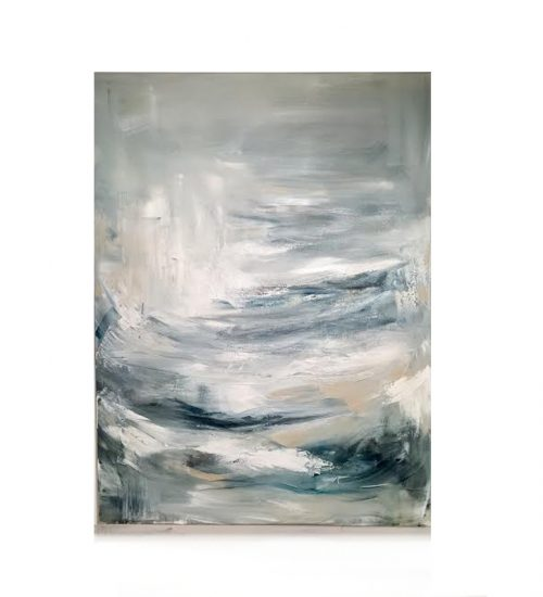original abstract painting called atlantic by artist BRITTANY CLIFFORD