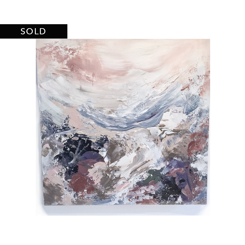 original abstract painting called from the coast by artist BRITTANY CLIFFORD