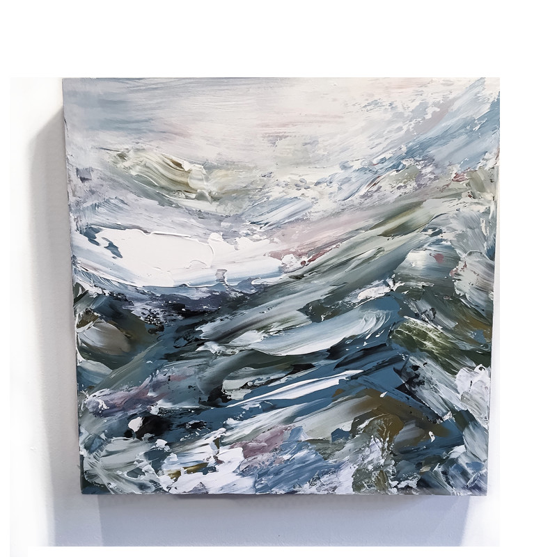 original abstract painting called never let me go by artist BRITTANY CLIFFORD