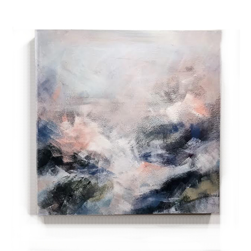 original abstract painting called soft eyes by artist BRITTANY CLIFFORD
