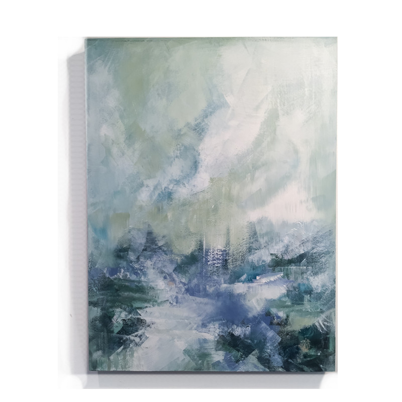 original abstract painting called wait for me by artist BRITTANY CLIFFORD