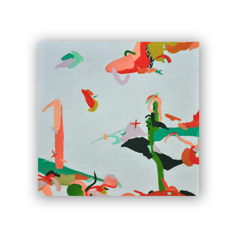 original abstract painting from wunderkid artist KATLIN SPAIN called winters desert