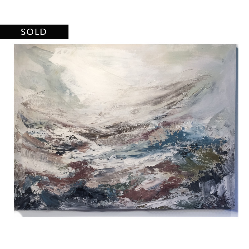 original abstract painting called your hand in mine by artist BRITTANY CLIFFORD