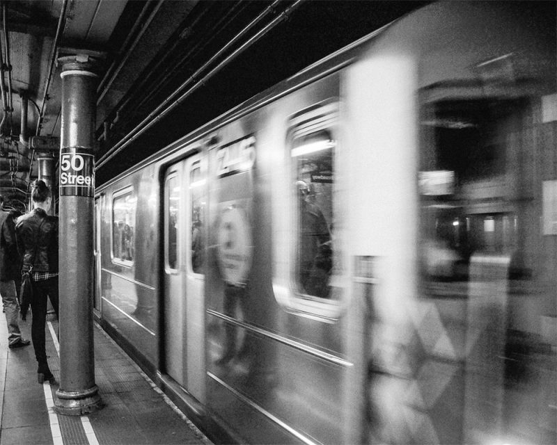 photograph of subway station In New York City called the New Yorker by photograph Alexandra Bloch