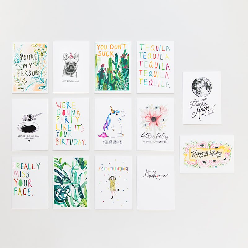 everyday and birthday greeting card pack